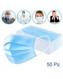 Mascherina Protettiva 3 Strati Confezione 50 pezzi