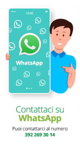 Contattaci su Whatsapp al numero 342 9466629