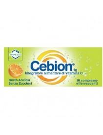 Cebion 1g Vitamina C 10 Compresse Effervescenti Senza Zuccheri