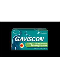 Gaviscon 24 Compresse Menta 250+133,5mg
