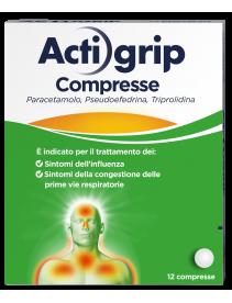 Actigrip 12 Compresse 2,5mg+60mg+500mg