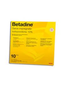 Betadine 10 Garze Impregnate 10x10cm