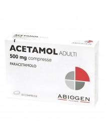 Acetamol Adulti 20 Compresse 500mg