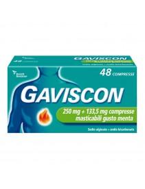 Gaviscon 48 Compresse Menta 250+133,5mg
